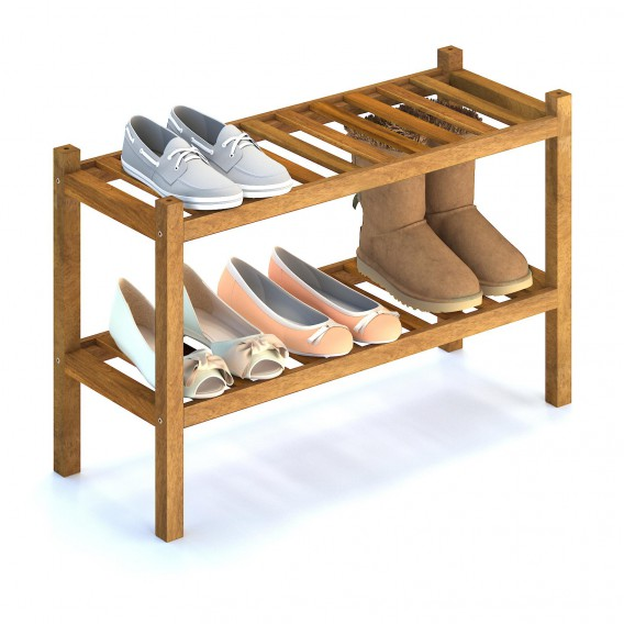 holger acacia solid wood shoe storage